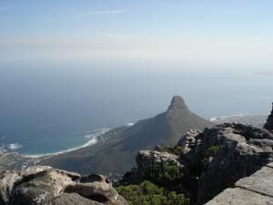 Aussicht zum Lion's Head vom Tafelberg aus