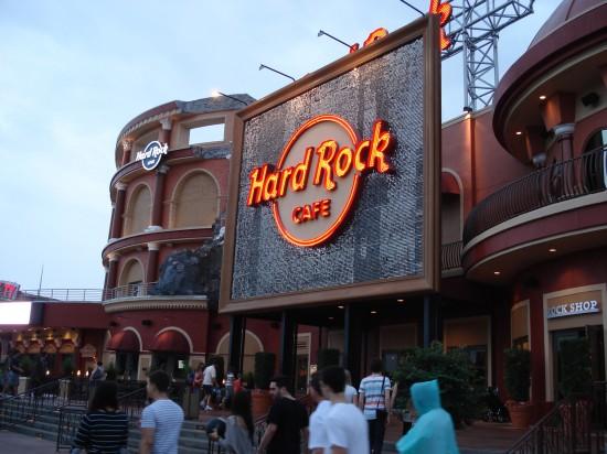 World's largest Hard Rock Cafe - leckeres Nachtessen!