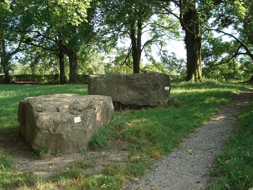 Findlinge im Findlingsgarten Kappenbühl
