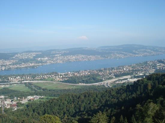 Sicht über Zürich vom Aussichtsturm
