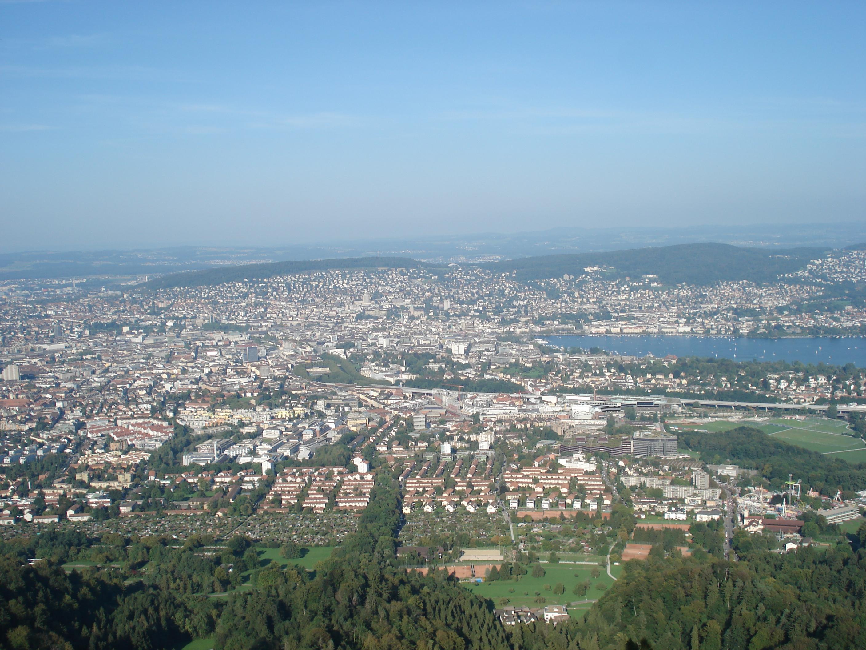 Sicht über Zürich vom Uetliberg