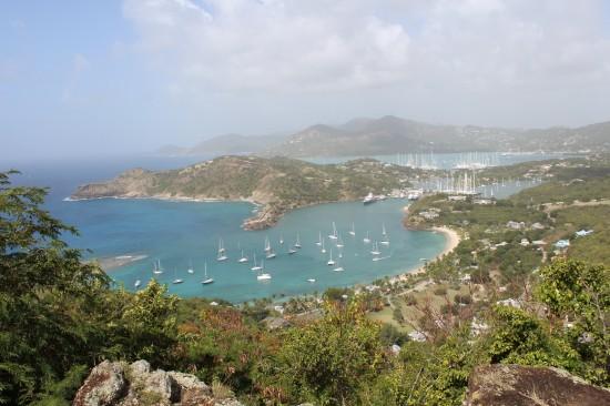 Panoramablick über den English Harbour