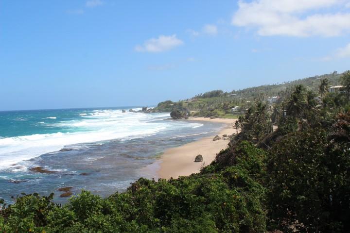 Nackte Insel in den karibischen Inseln