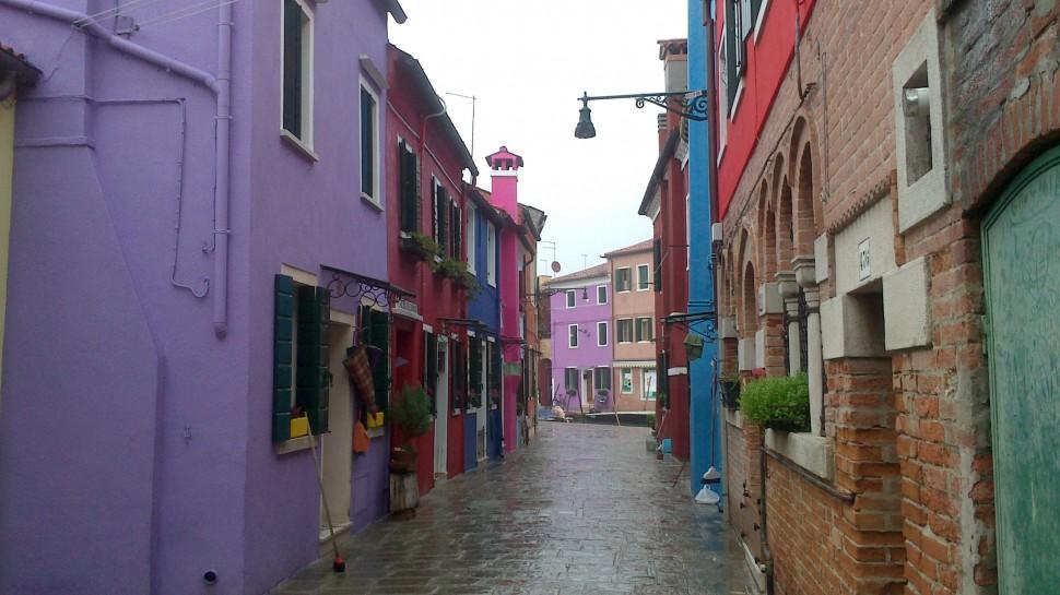 Farbige Häuser in Burano