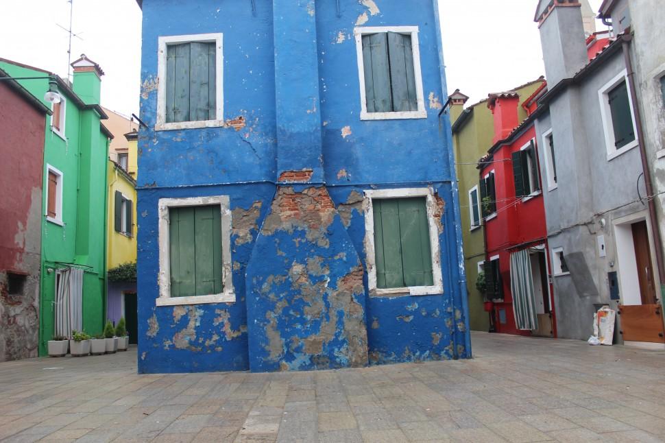 Blaues Haus in Burano