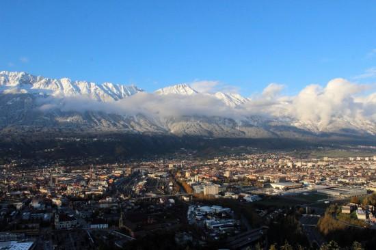Sicht über Innsbruck von der Bergisel
