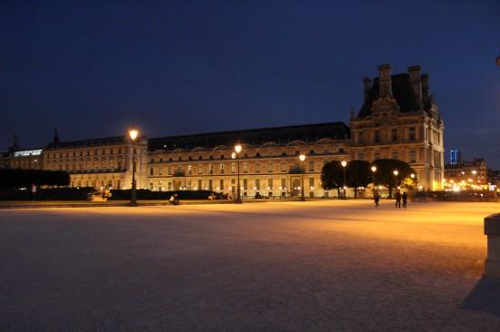 Place du Carrousel in der blauen Stunde