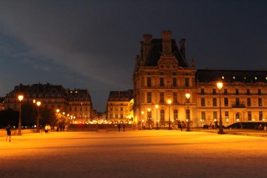 Place du Carrousel im goldenen Licht