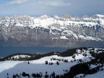 Skifahren im Heidiland