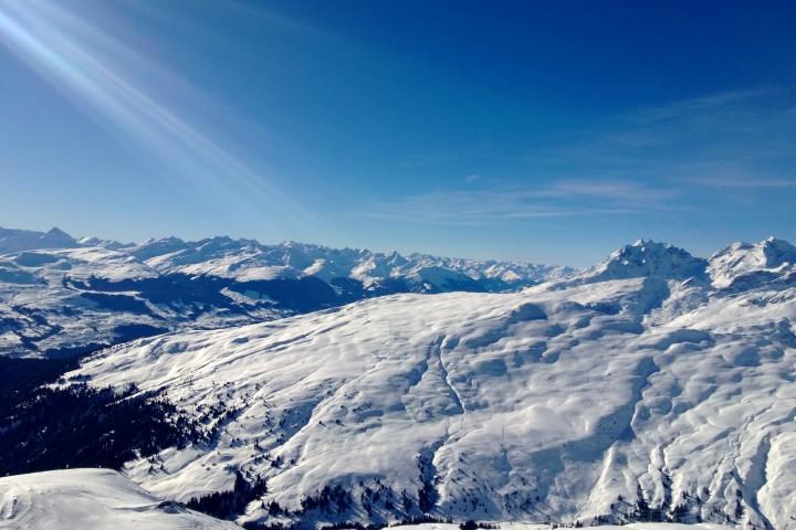 Skifahren in der Alpenarena Flims-Laax-Falera