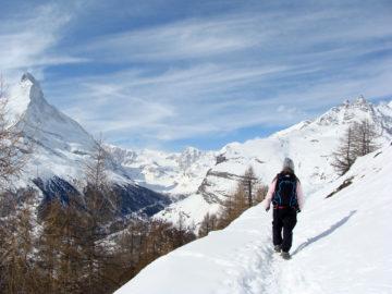 Zermatt - Winterwandern mit Aussicht
