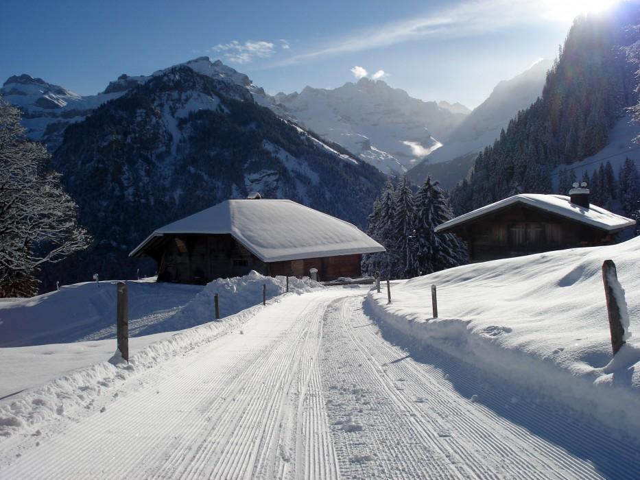 Winterlandschaft Kiental