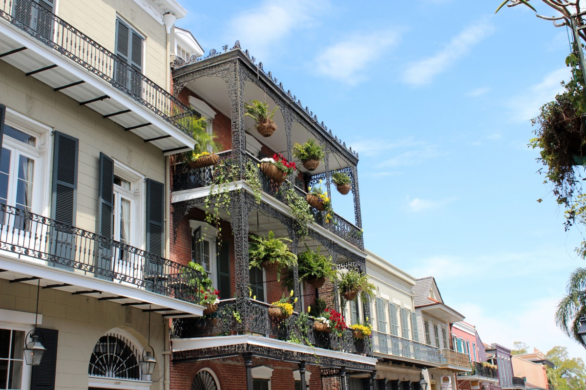 Architektour durch das French Quarter von New Orleans