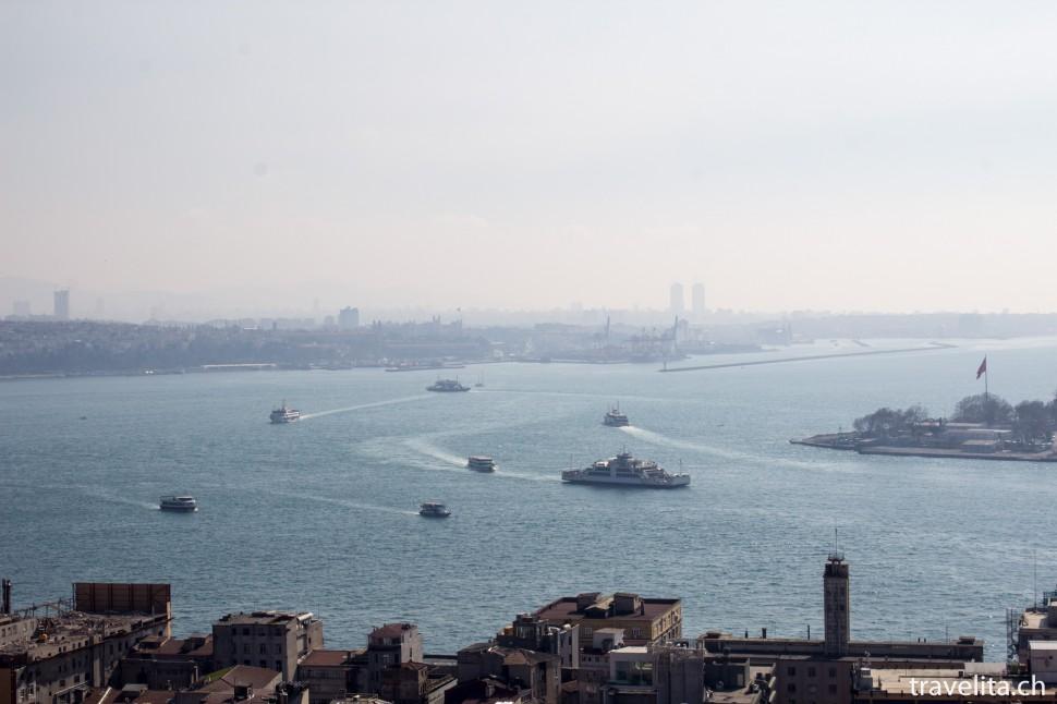 Sicht vom Galataturm in Richtung Bosporus
