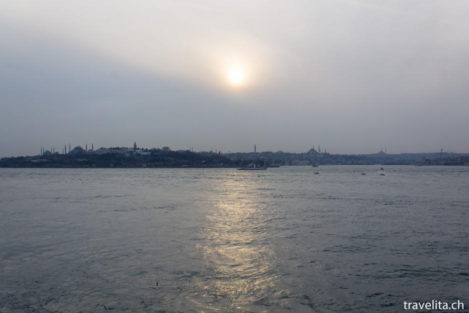Sonnenuntergang-Istanbul