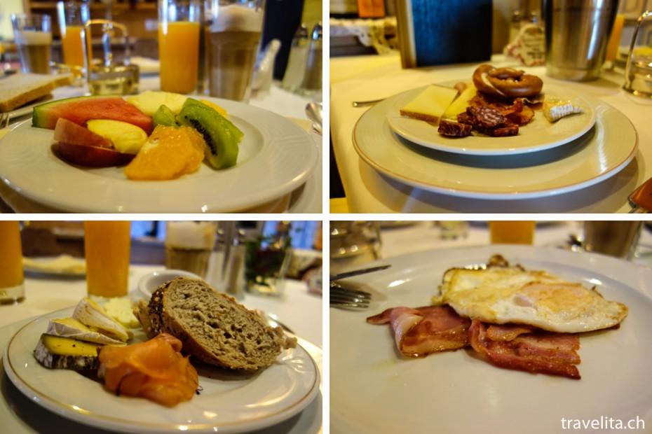 Frühstück im Hotel Cervosa