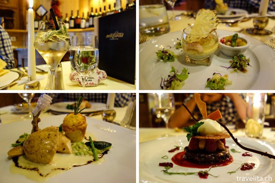 Abendessen im Hotel Cervosa