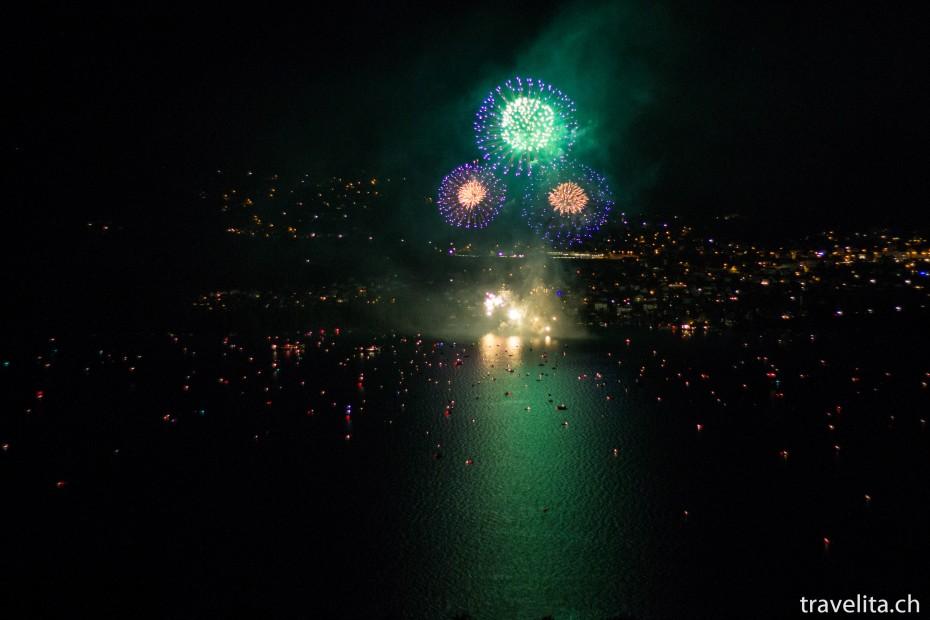 Feuerwerk Spiez - Blau - Gold