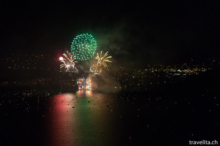 Feuerwerk Spiez - Grün - Gold