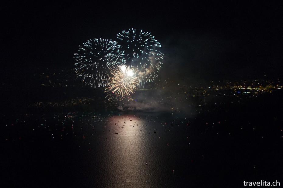 Feuerwerk Spiez - Goldregen