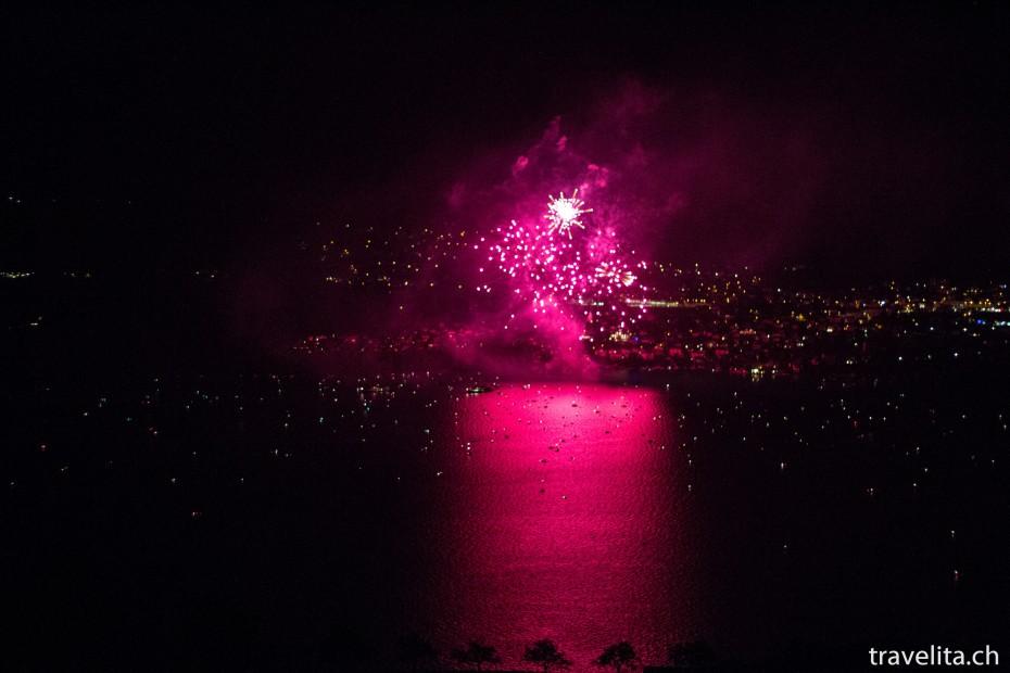Feuerwerk Spiez - Rosa