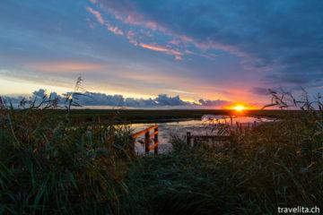 Hallig Langeneß - Sonnenuntergangs-Kitsch vom Feinsten