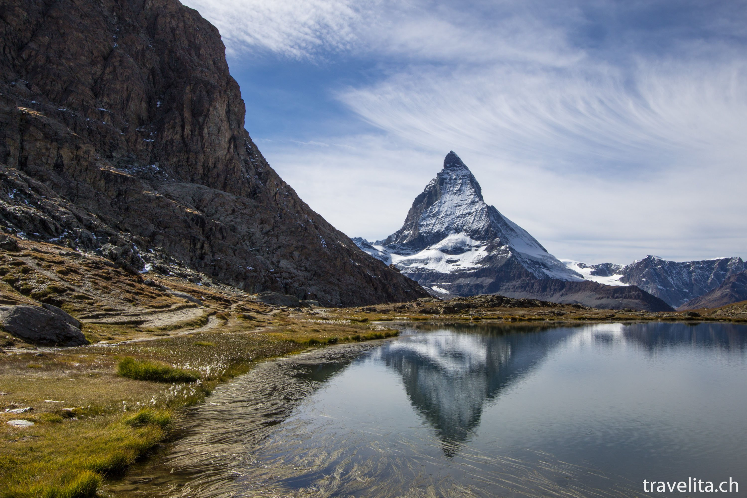 Probably the most photographed lake in Zermatt . The lake is easy ...
