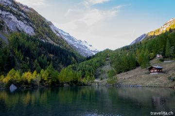 Goldener Herbst in der Derborence - Wandern am Lac de Derborence
