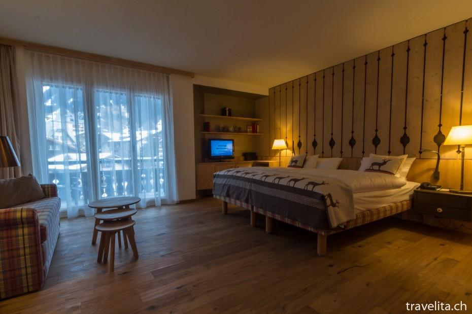 Alpenchic Zimmer im Hotel Piz Buin Klosters 2