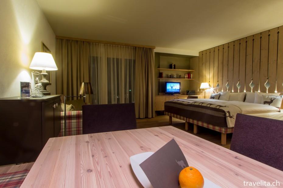 Alpenchic Zimmer im Hotel Piz Buin Klosters