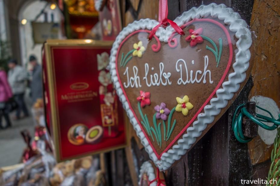 """""""Ich liebe Dich Lebkuchen am Weihnachtsmarkt"""