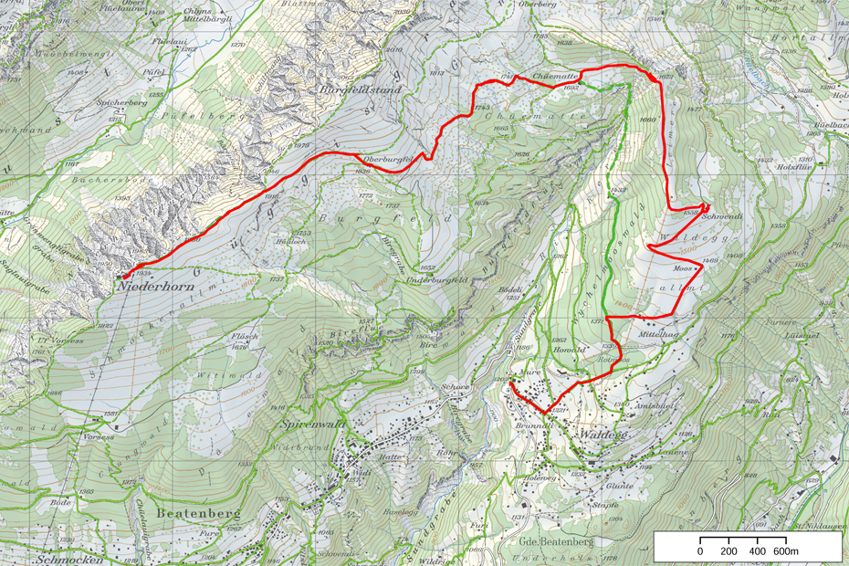 Niederhorn-Waldegg-Winterwandern