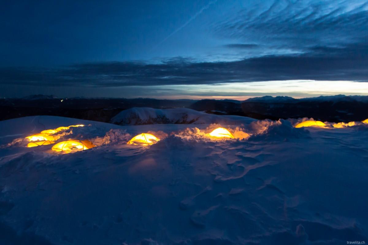 Salewa Basecamp – die Nacht in Eis und Schnee