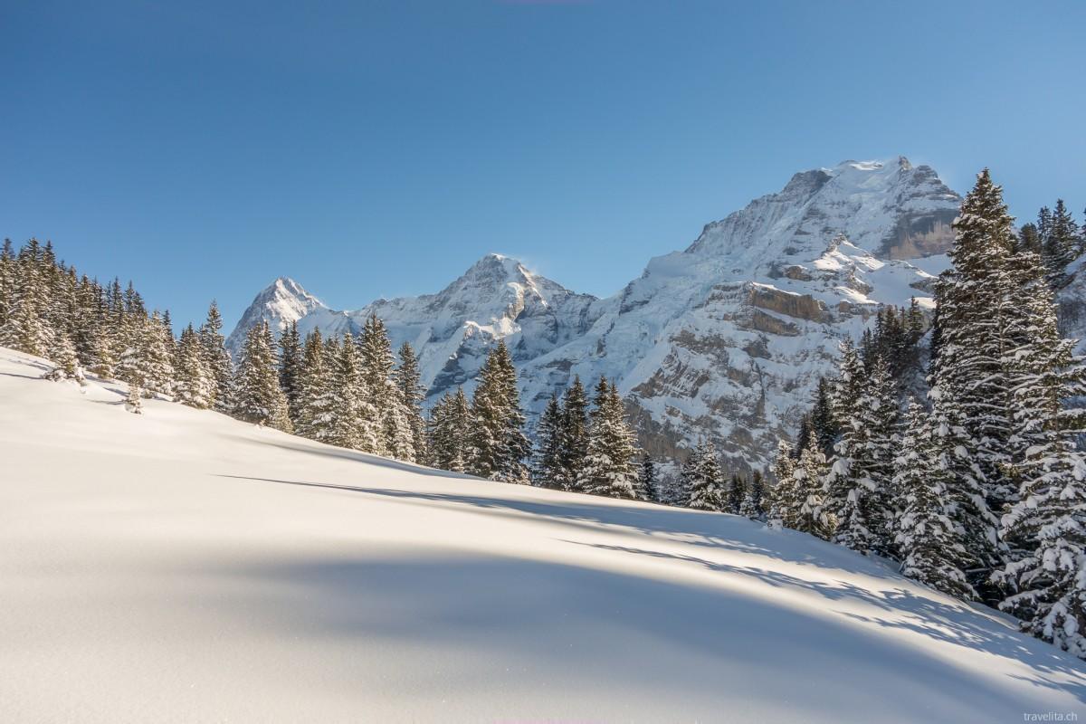 Magisches Mürren – Schneeschuhtour im Berner Oberland