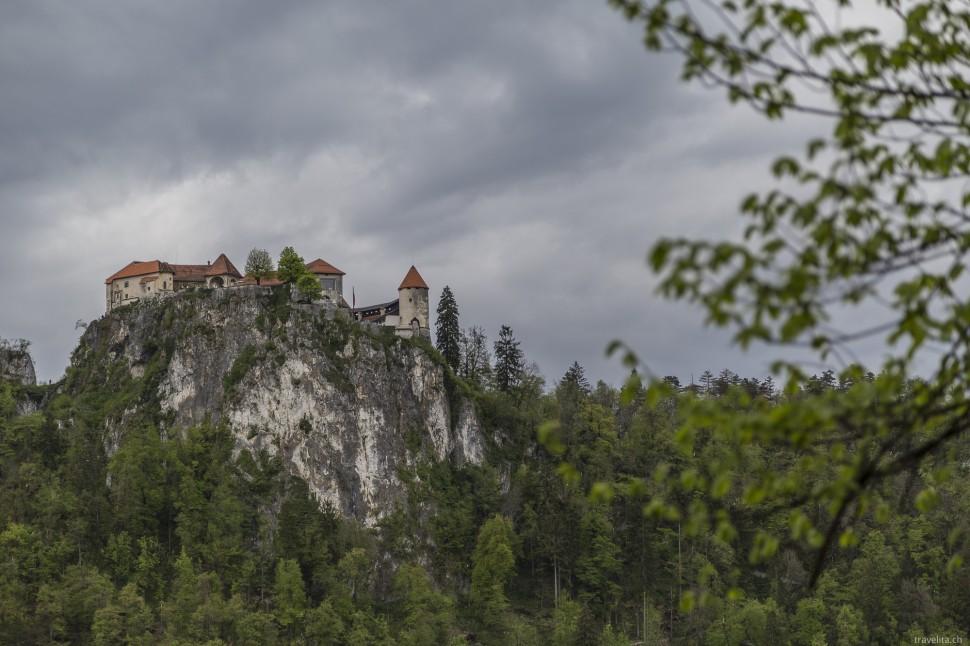 Blick auf das Schloss Bled