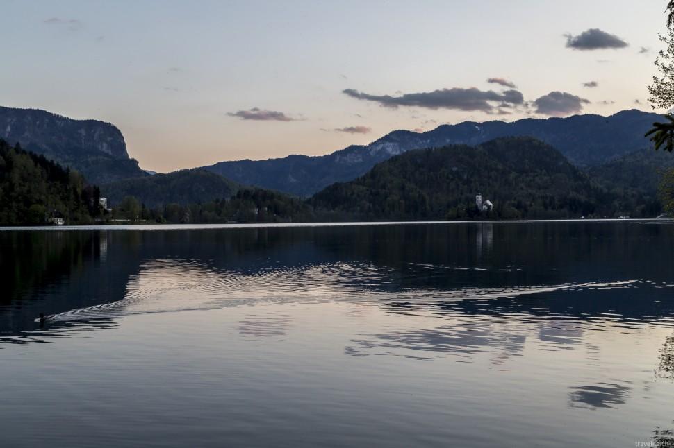 Abendstimmung am Bleder See