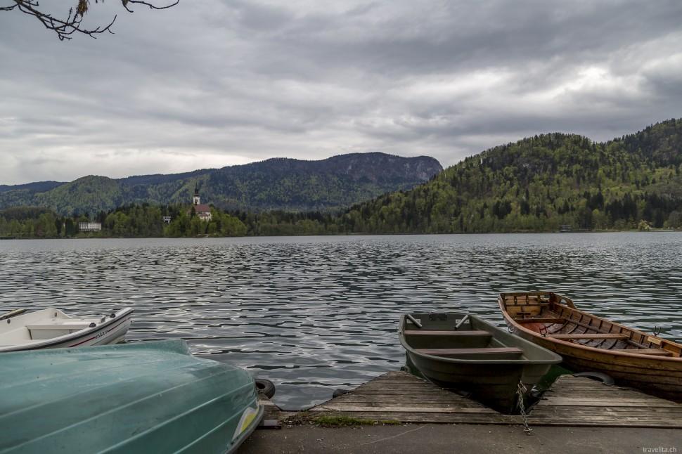 Boote am Bleder See