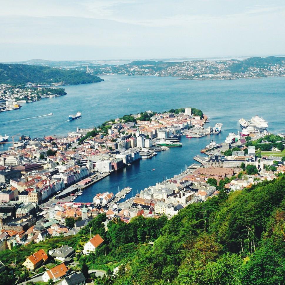 Bergen-Floibanen-Aussicht