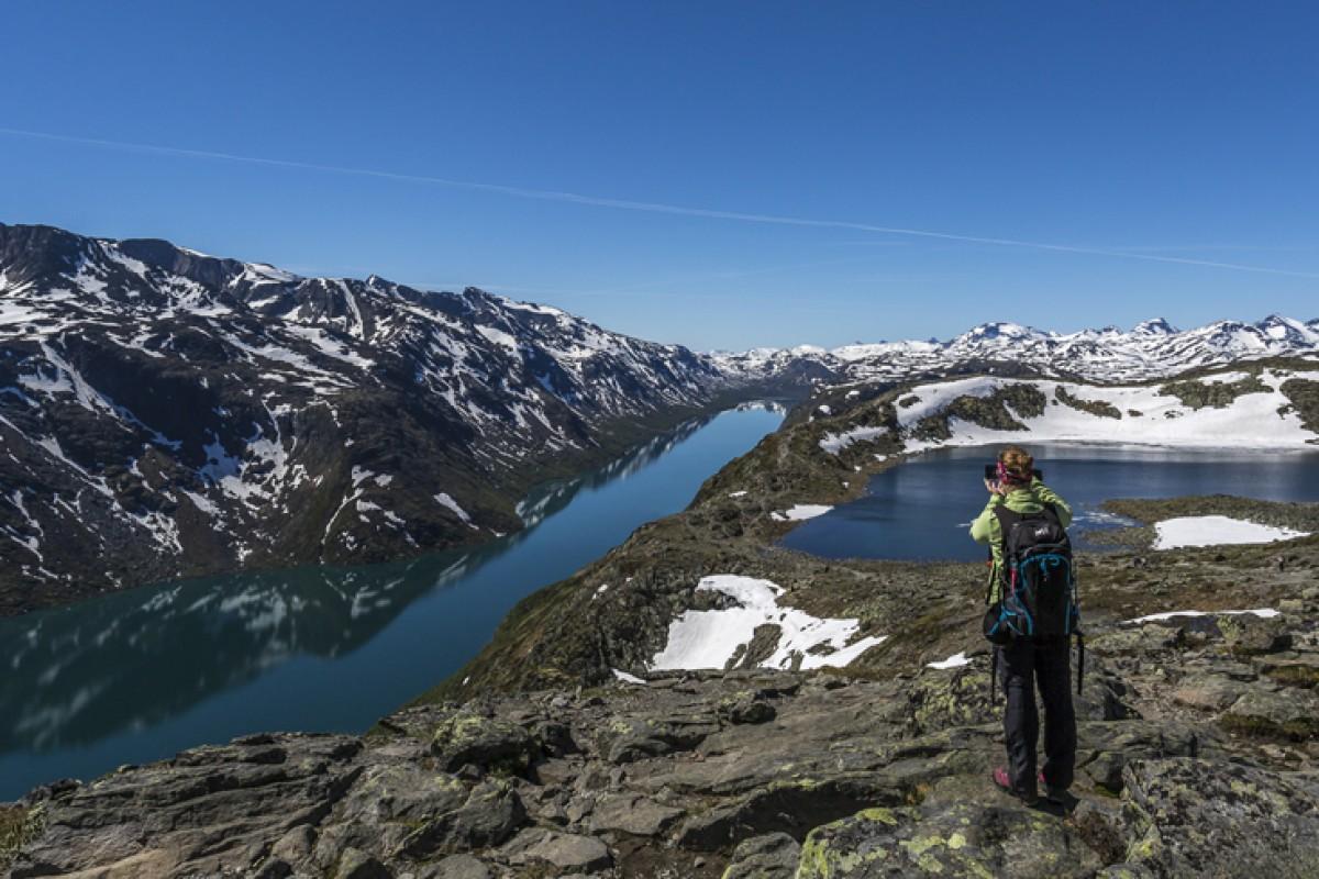 Besseggen Ridge – wandern auf Norwegisch