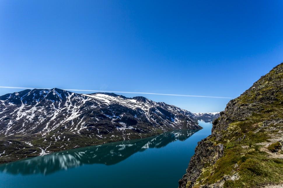 Besseggen Ridge Blick auf Gjendesee