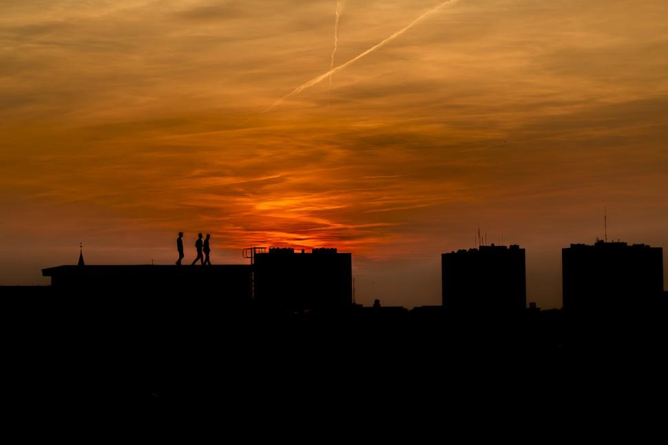 Rooftop-sonnenuntergang