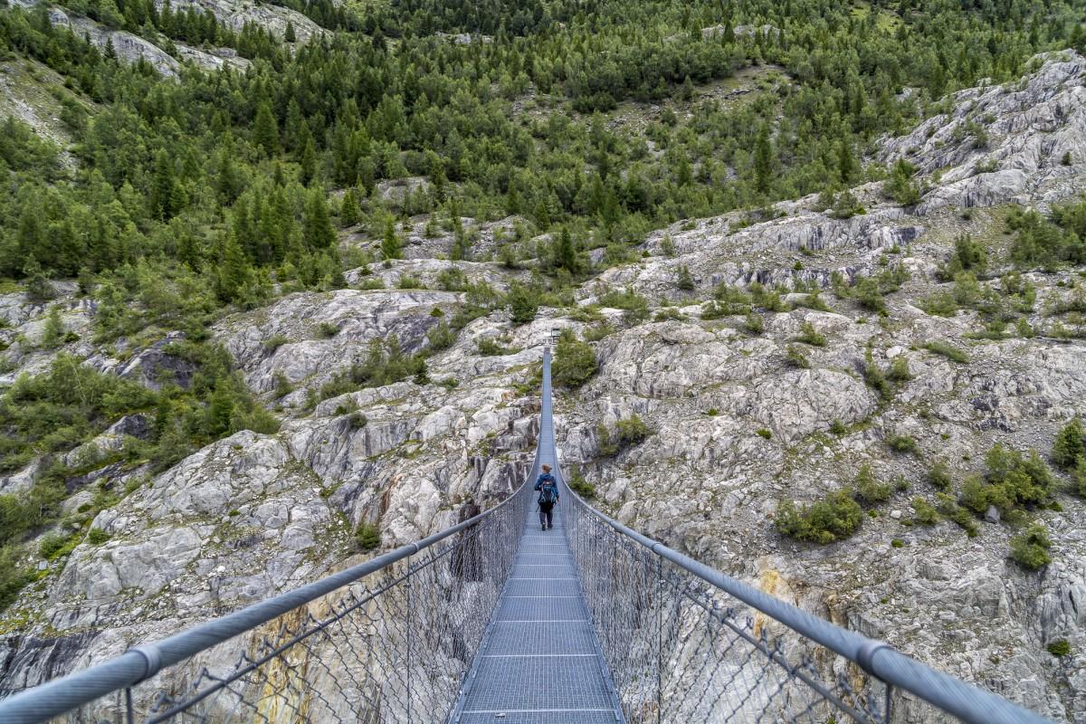 Riederalp-Belalp mit Hängebrücken Mutprobe