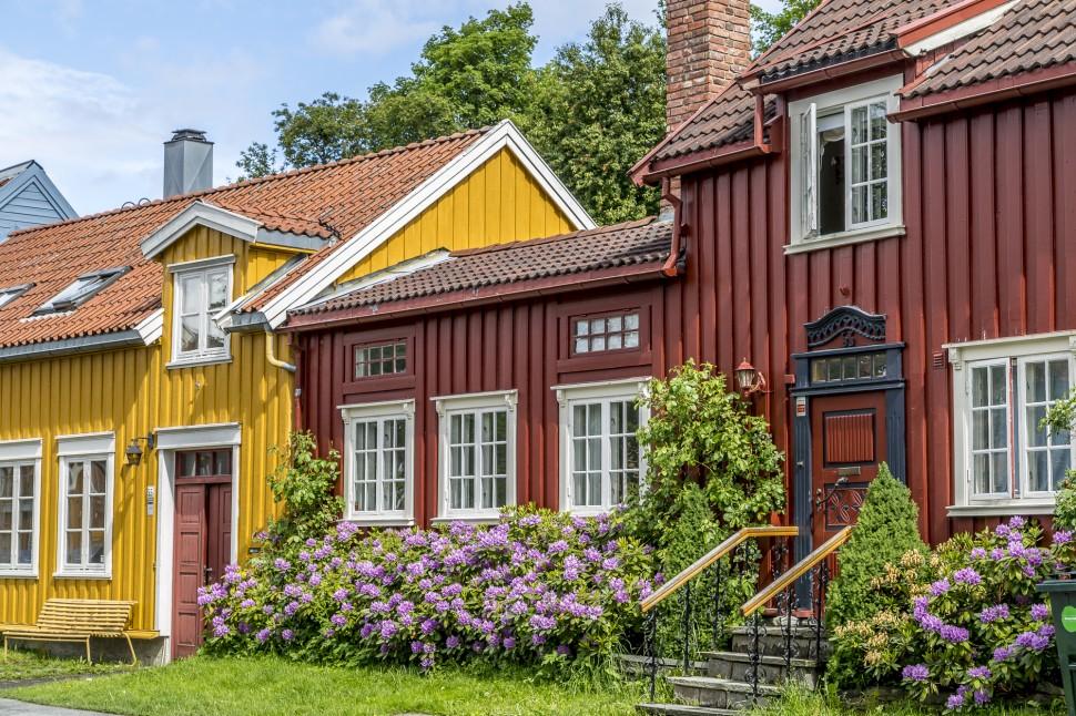 trondheim-norwegen-bunte-Häuser