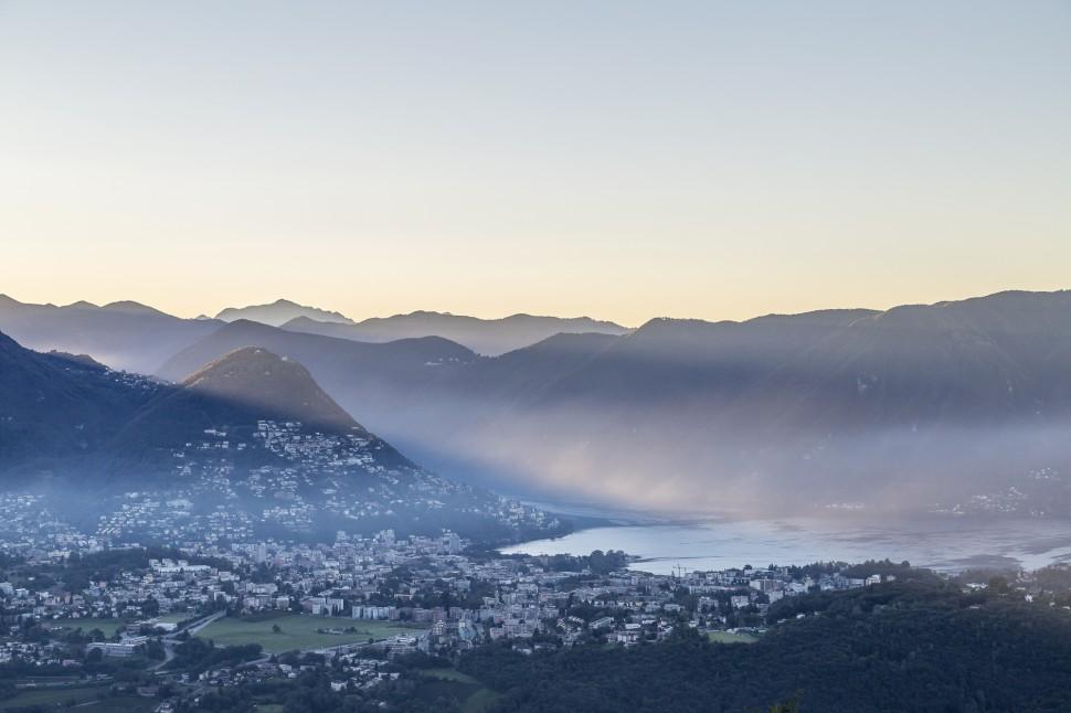 Lugano-Sonnenaufgang