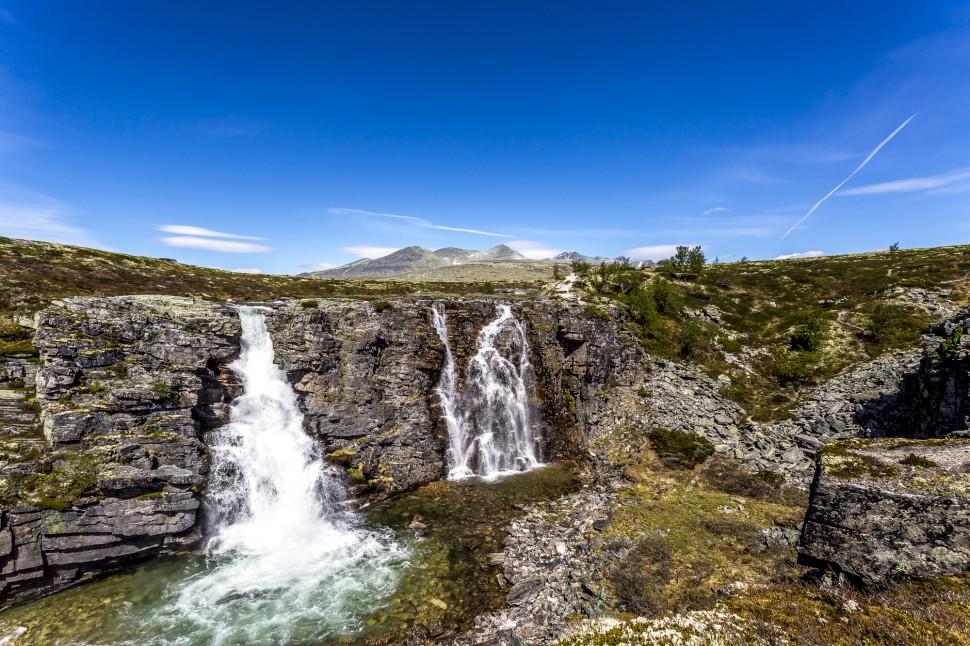 rondane-nationalpark-Wasserfall