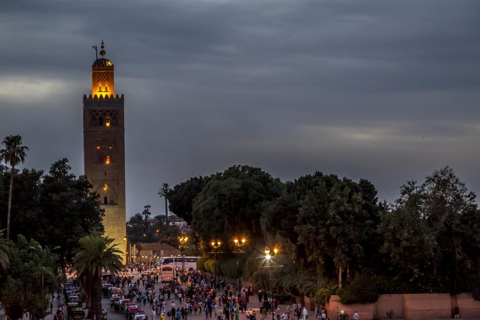Djemaa-el Fna-Marrakesch-Koutoubia-Moschee