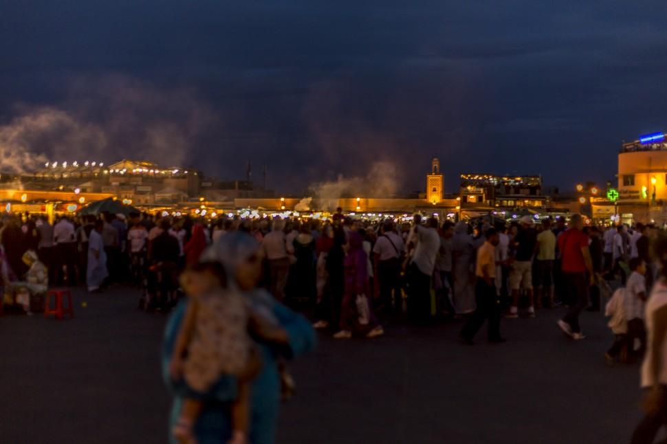 Djemaa el Fna Marrakesch in der Nacht