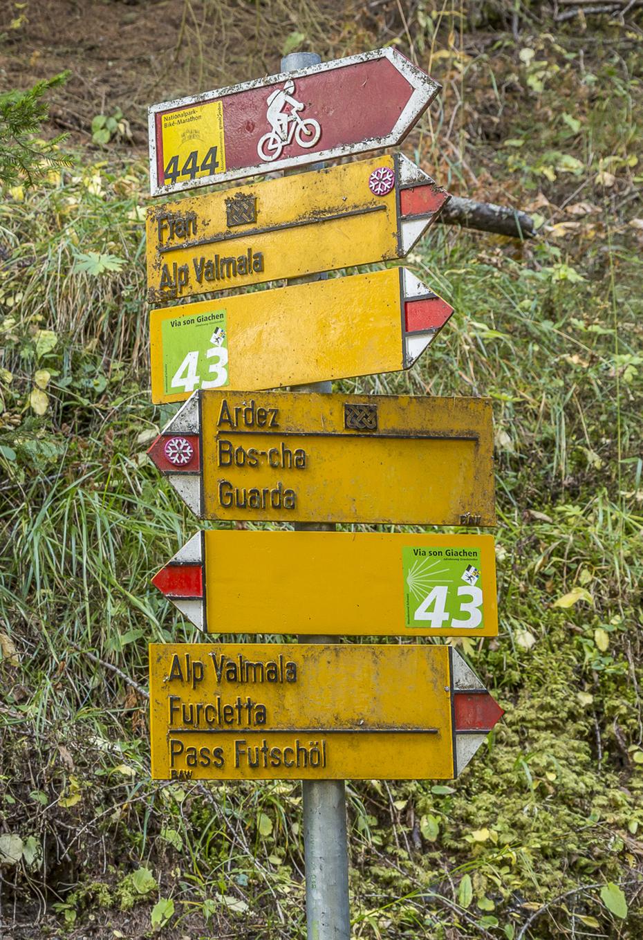 Wanderweg-Engadin