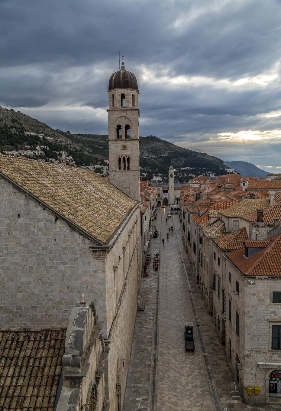 Dubrovnik-Stradun-Stadtmauer