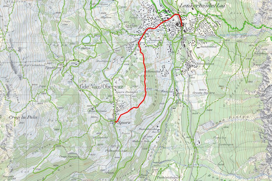 Wanderweg-Lenzerheide-Sporz